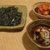 胡八 - 料理写真:韓国のり、キムチ、チャンジャ