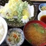 永田ドライブイン - 天ぷら盛り合わせ定食!(2015,05/17)
