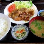 永田ドライブイン - ロース生姜焼定食!(2015,05/17)