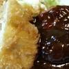 すえひろ - 料理写真:ハンバーグとチキンチーズカツ付き+クリームコロッケ アップ 2015.5
