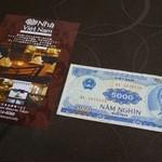 ニャー・ヴェトナム - ショップカードとベトナム紙幣 (VND)