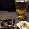 酒菜竹のした  - 料理写真:生ビールとお通し