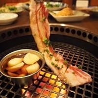 """琉球在来島豚""""あぐー""""の焼肉"""