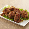 伊勢道安濃SA(上り) 安濃横丁 - 料理写真:三重県産の鶏を伊勢うどんのタレに一晩漬込みました。仕上げに特製タレをくぐらせてご提供します。