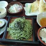 山賊鍋 - 天ざる茶そば定食