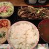 山之宿 - 料理写真:牛ばら焼(750円)ご飯おかわり自由!