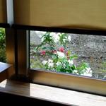38365915 - 窓の外の花