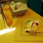 ラ・クチネッラ・ディ・ヤマモト - セットランチ(アイスティ、柚子のシフォンケーキ)