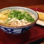 楽釜製麺所 - かけ並(290円)&カマス天(130円)