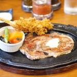 ステーキ那須 - 海老フライとサーロイン
