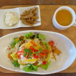 猿Cafe - タコライスランチ