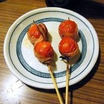 喜よし - トマトのベーコン巻(オリーブオイルつき)¥150