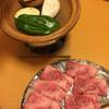 和食空間うまいもん屋 - 料理写真:和牛カルビの陶板焼き