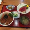 話食処しん - 料理写真:150529 上ソースカツ丼+上鮪赤身さしみ定食