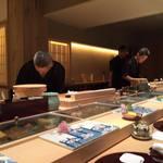 寿司 うち田 - 改装した店内