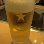 千房 - サッポロ生 お昼から飲めるビールって最高!!