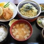 味処 東 - ザルラーメンチカツ定食¥780