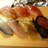 や台ずし - 料理写真:まぐろ、中トロ、大トロ、焼穴子、こはだ、いわし、とびっこ