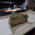 天ぷら 酒菜 醍醐 - ウニの大葉巻き やはりうまし!