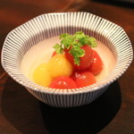 和食 イワカムツカリ - ミニトマト、甘酢掛け (2015/05)