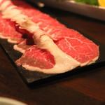 和食 イワカムツカリ - 無薬飼育和牛「尾崎牛」そともも肉(そとひら) (2015/05)