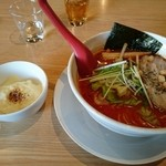 完熟らーめん 本丸 - トマトラーメンとご飯