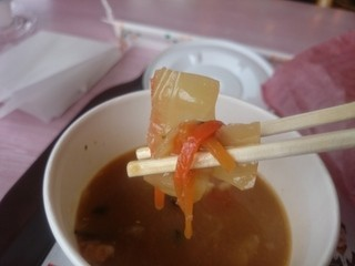 ロッテリア - スープの具。リフト(^-^)/