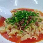 杏亭 - もちっとした平打ち麺に胡麻のこくの汁なし坦々麺