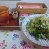 CAFE おおとも - 料理写真:トマトソースのドリアセット(1280円) アイスティー&サラダ