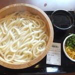 丸亀製麺 - 釜揚げうどん特盛490円が240円(2015.6.1)