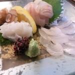 ベッチャーの胃ぶくろ - 穴子と鯛と蛸の三種盛