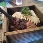 38564227 - 二種類の味噌と野菜の焚き物ハーフサイズ