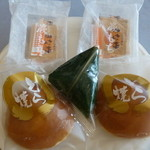 播田屋本店 - 買って来たわらび餅@150、麩まんじゅう@150、どら焼き@150