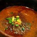 吟醸らーめん 久保田 - 吟醸つけ麺 味噌(つけ汁)