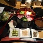 淡路島と喰らえ - 鯛茶2段重、会員になって880円