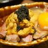 鳥茂 - 料理写真:雲丹キャビア炙り肉どんぶり!(2014/8)