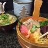 寿し善 - 料理写真:びっくり海鮮丼、豚汁と大きなお茶、ごちそうさま!