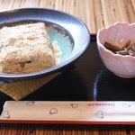 甘味茶屋 水月 - きなこ餅とふき