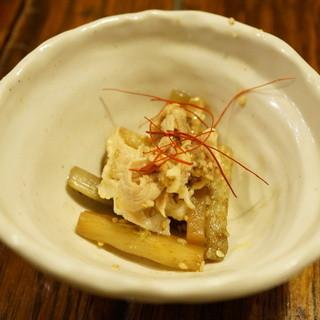 日南 - 料理写真:うどのきんぴらと豚しゃぶ