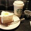 スターバックス・コーヒー - 料理写真:スターバックスラテ Tall¥370 (税抜き)レモンシフォンケーキ  ¥380(税抜き)