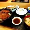 ましお食堂 - 料理写真:ソースかつ丼+餃子