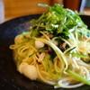 おごるな - 料理写真:小柱とベーコンとみぶなの柚子胡椒パスタ