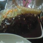 たんぽぽ食堂 - セットのハンバーグ