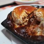 洋食 キムラ - チーズハンバーグ切り口