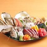 日本橋イカセンター - 今朝獲れ地魚刺盛り