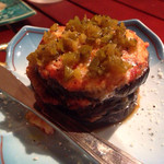バレアリック飲食店 - 茄子のグラタン。おしゃれ! 食器もこだわりを感じるお店でした。
