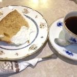 セキ珈琲館 - 黒糖シフォンケーキ