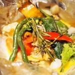 ブラッセリー エール - パピヨットランチ(アサリと小柱とたっぷり野菜のパピヨット)