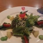 ぱぱでむ~ちょ - 気まぐれサラダ  空豆のサラダ