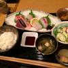 魚人 - 料理写真:刺身定食!ホントに大満足でした(^-^)